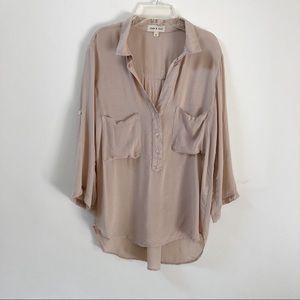 Anthropologie   Cloth & Stone Tan Button Down